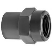 "PVC Jatkosnippa sisäkierre 32/40mm x 1 1/4""sk"